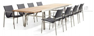 4 Seasons outdoor Resort dining set anthracite