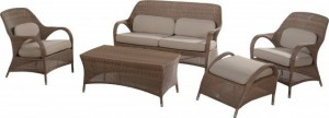 4 Seasons Outdoor Sussex living set polyloom taupe