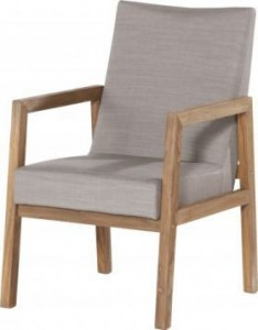 4 Seasons outdoor Vigo dining chair teak/taupe