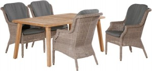 4 Seasons outdoor Del Mar dining chair pure