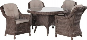4 Seasons outdoor Madoera dining set colonial