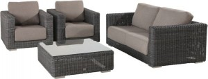 4 Seasons Outdoor Somerset living set charcoal