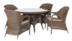 4 Seasons outdoor Sussex dining chair polyloom mocca