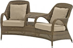 Sussex loveseat polyloom taupe
