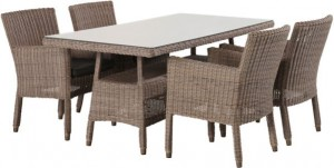 4 Seasons outdoor Wales dining set pure