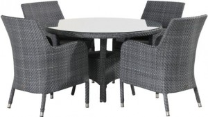 4 Seasons outdoor Westminster dining set ebony