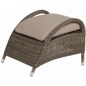 Sussex footstool polyloom taupe