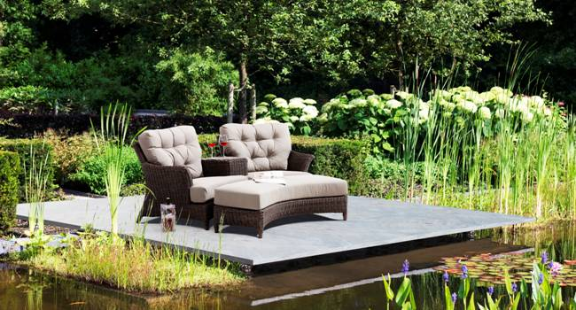 Tuinmeubelen outlet 4 seasons outdoor valentine loveseat for Seasons outdoor