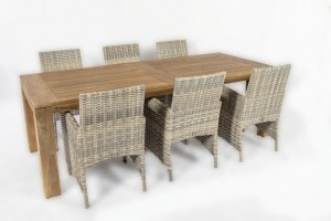 4 seasons outdoor mambo dining chair met corona teak tafel