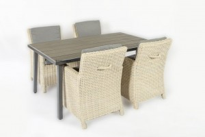 suns alora dining chair met 4 seasons outdoor polyteak tafel