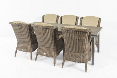 4 Seasons outdoor Del mar leaf met polywood venice