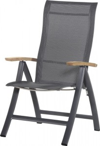 4 Seasons outdoor Sentosa recliner anthracite teak arms