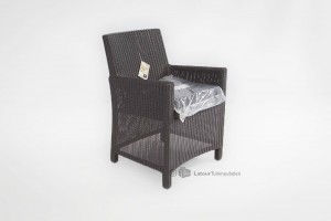 4 Seasons outdoor eden dining chair black
