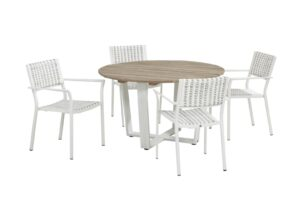 4 Seasons outdoor piazza dining chair white