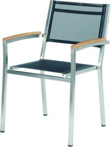 4 Seasons outdoor Nexxt stackable chair Black