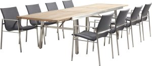 4 Seasons Outdoor Resort dining grey Continental extending table