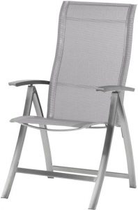 4 Seasons outdoor Slimm adjustable chair stainless steel ashgrey