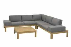 4 seasons outdoor mistral teak hoekbank loungeset