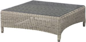 4 Seasons Outdoor Valentine coffee table square pure