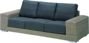 Kingston 3 seater bench pure