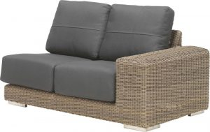 4 Seasons Outdoor Kingston 2 seater left island pure