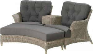 4 Seasons Outdoor valentine loveseat pure