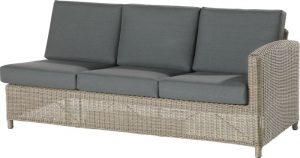 Lodge living bench 3 seater left arm