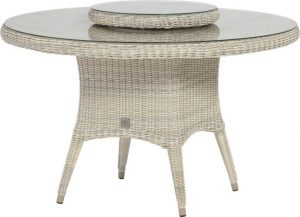 Victoria dining table XL with lazy susan polyloom taupe