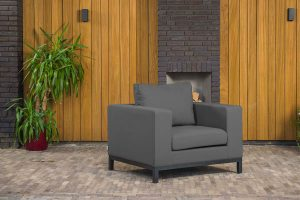 Flow Square loungechair sooty