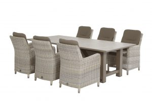 4 Seasons Outdoor Diva dining table Taupe