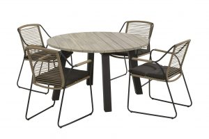 scandic dining set with derby dining table teak top with alu legs_01