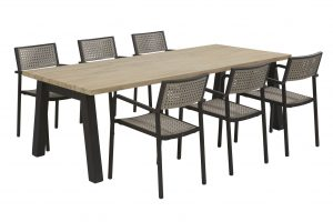 coruna dining set with derby dining table teak top with alu legs_01