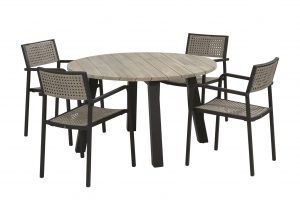 4 Seasons Outdoor Coruna dining set met derby tafel