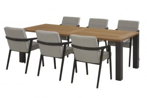 4 Seasons Outdoor Aragon dining set with union dining table alu legs antracite_01