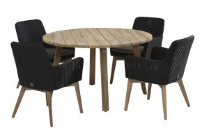 4 Seasons Outdoor Lisboa eetset met derby tafel