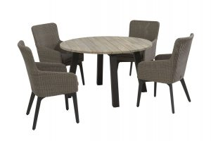 4 Seasons Outdoor Luxor dining set met derby tafel