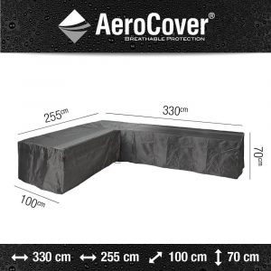 Aerocover loungesethoes hoekset L-vorm links 330x255x100x70