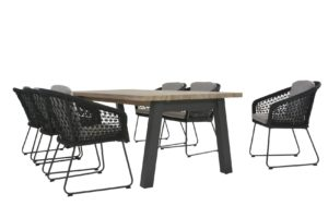 4 Seasons Outdoor Belize, 4 Seasons Outdoor Derby tafel 240 x 95 en 4 Seasons outdoor Sportbank, 4so rope