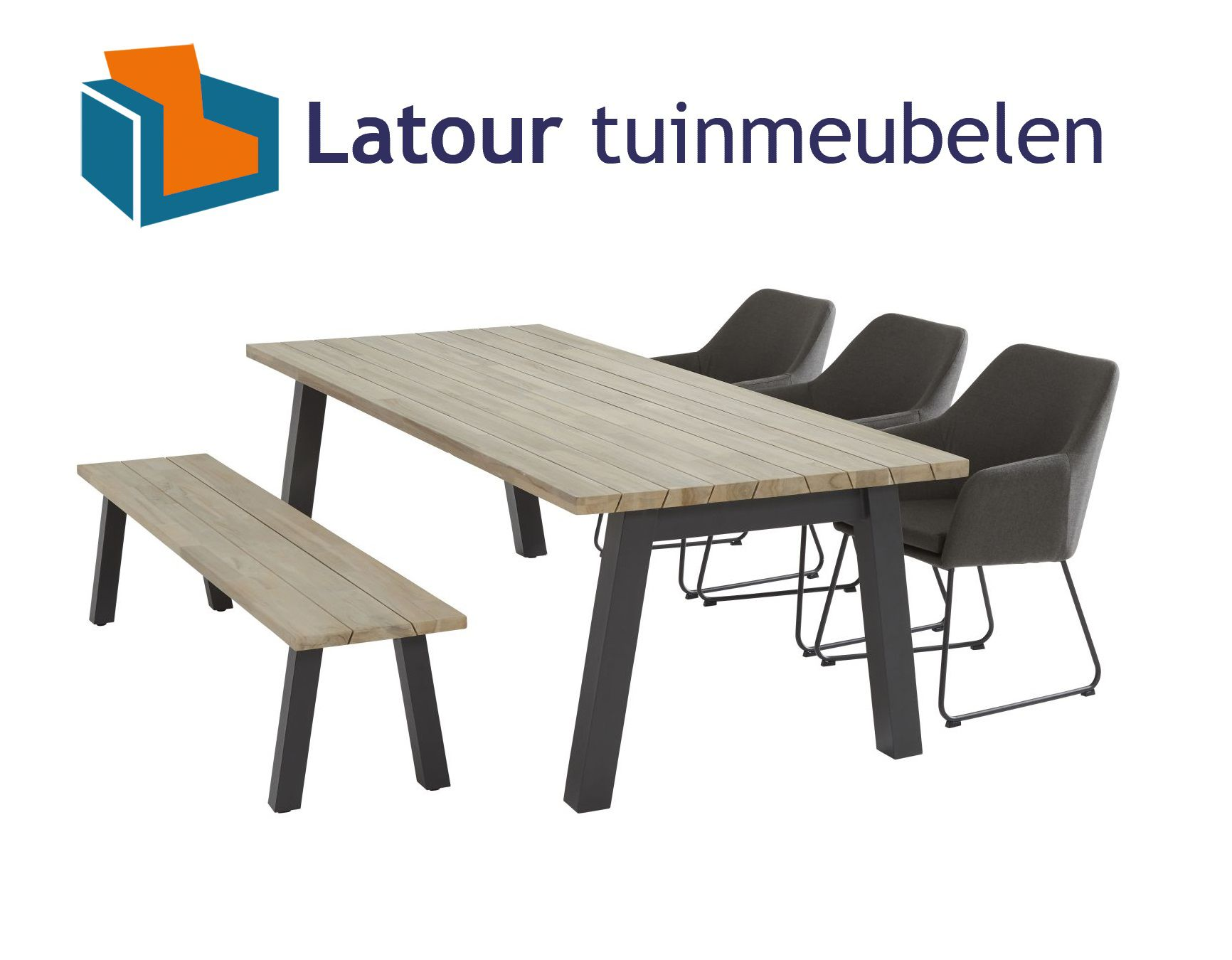 4 Seasons Outdoor amora tuinset teak tafel