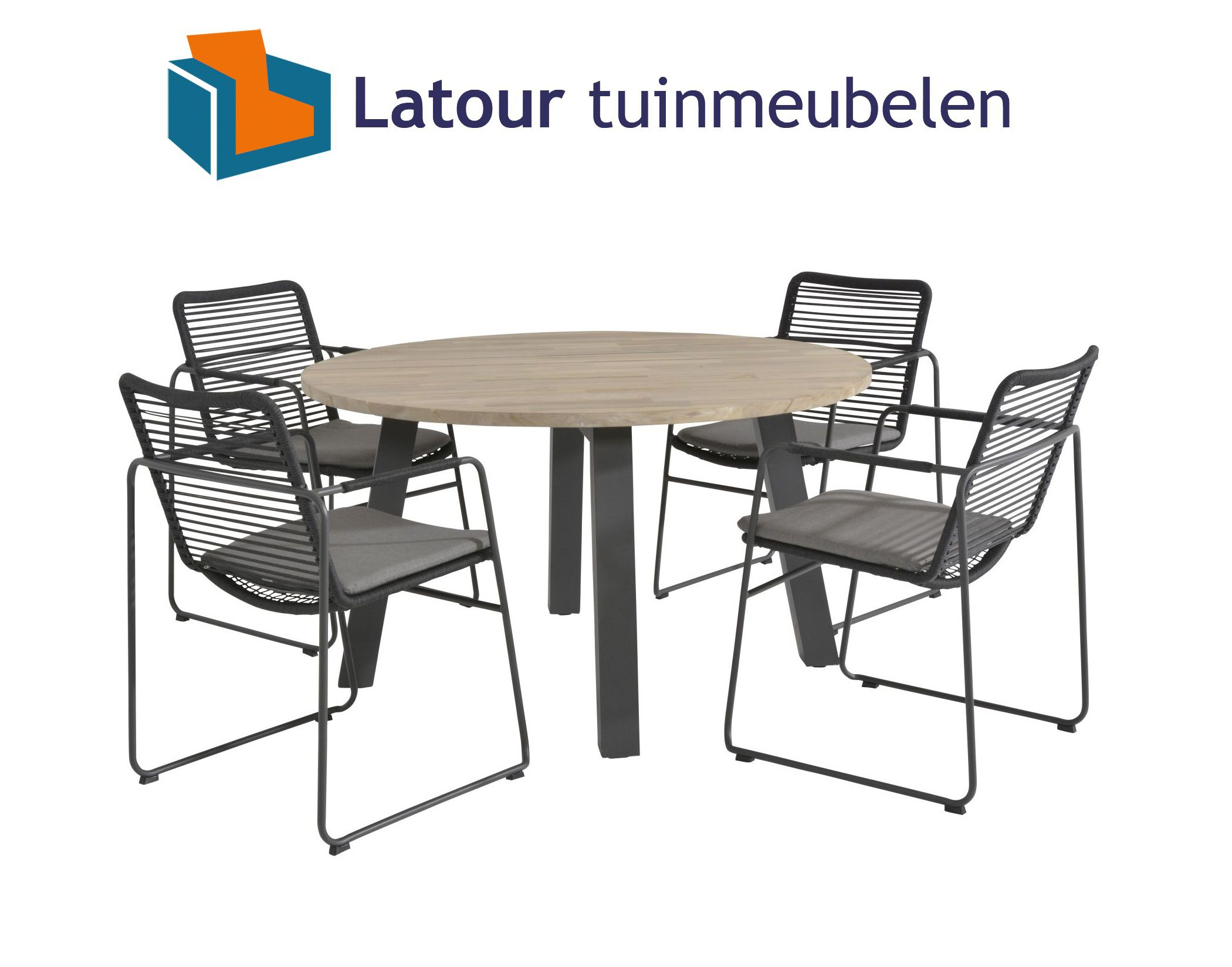 4 Seasons Outdoor elba dining tuinset