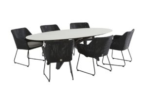 4 Seasons Outdoor Avila eetset met global ellipse tafel