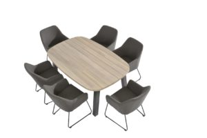 4 Seasons Outdoor Amora eetset met derby Ellipse tafel