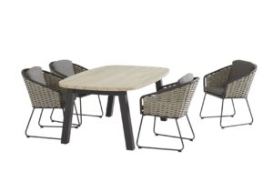 Taste by 4 Seasons Outdoor Bo eetset Derby Ellipse teak hout