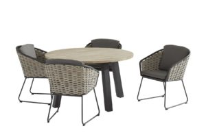 taste by 4 seasons outdoor Bo dining set met derby tafel rond