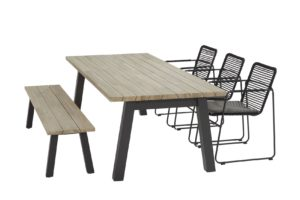 taste by 4 seasons elba eetset met ellipse tafel met sportbench