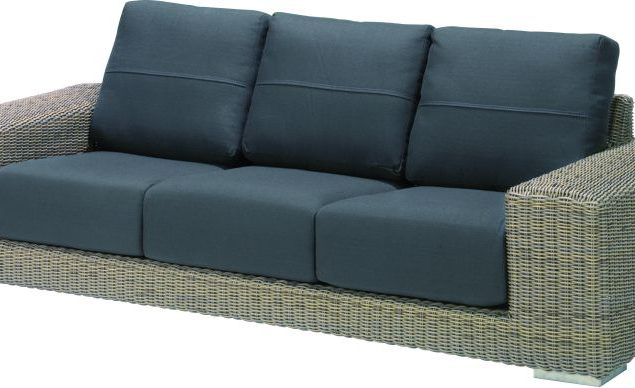 4 Seasons Outdoor Kingston 3 seater bench pure