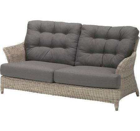 4 Seasons Outdoor Valentine 2,5 seater bench pure