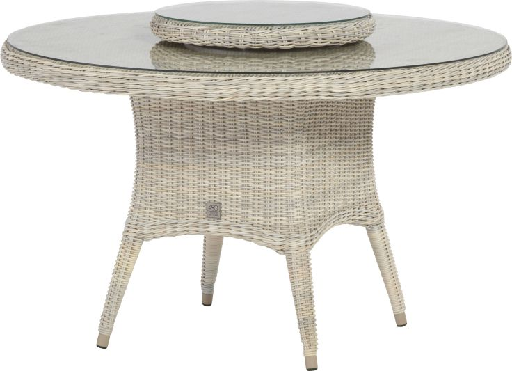 4 Seasons Outdoor Victoria dining tafel met lazy susan 170 cm