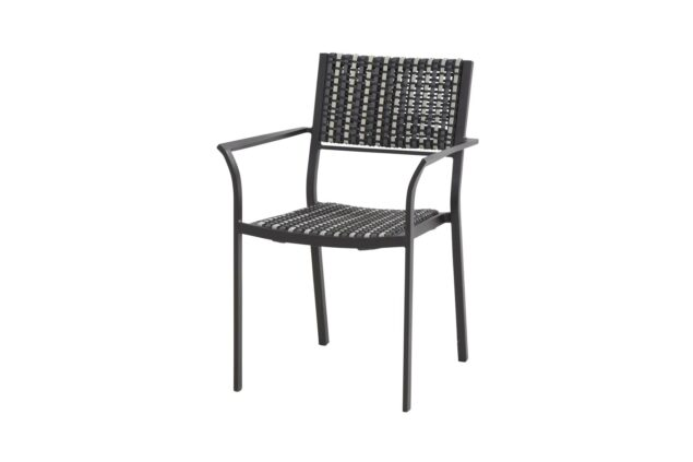 4 Seasons outdoor piazza dining chair black pepper