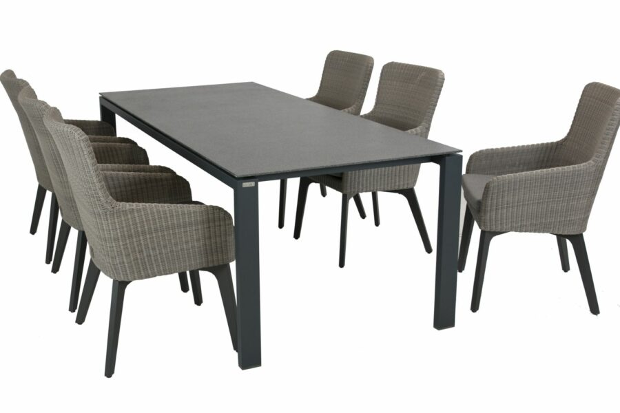 4 seasons outdoor luxor eetset met lafite tafel